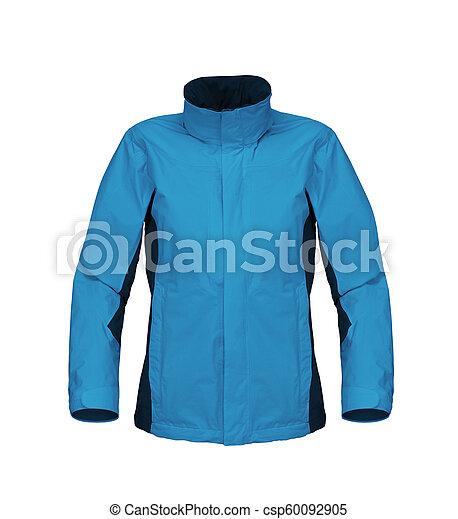 blue jacket isolated on white background - csp60092905