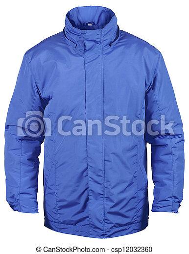 blue jacket isolated on white - csp12032360