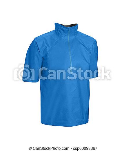 Blue jacket isolated on white - csp60093367