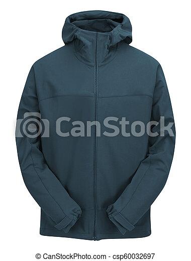 blue jacket isolated on white - csp60032697