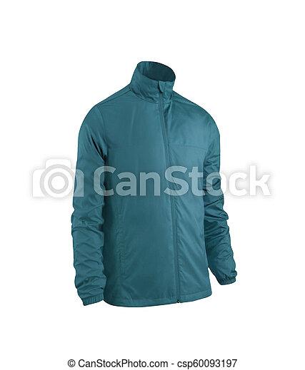 blue jacket isolated on white - csp60093197