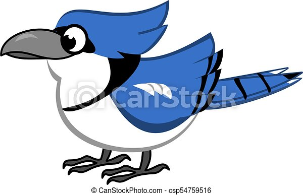 blue jay cartoon bird cartoon of blue jay vector clip art search rh canstockphoto ca blue jay clipart free blue jay clipart black and white