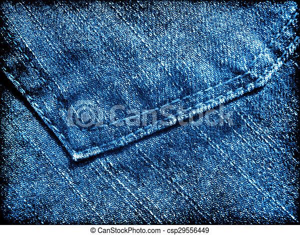 Blue jeans grunge texture - csp29556449