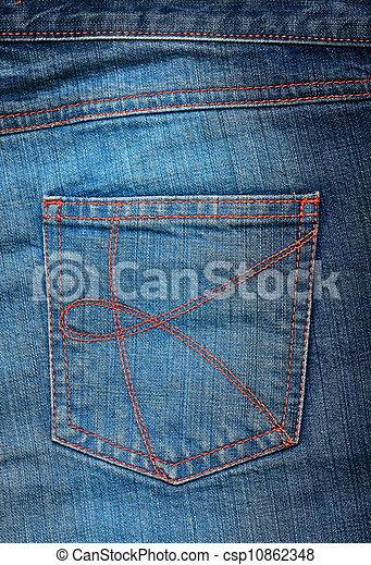 Blue jeans pocket. - csp10862348