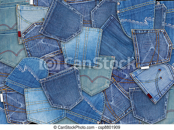 Blue Jeans Pocket Background Of Different