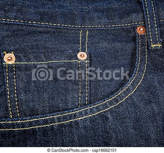 Blue jeans pocket. - csp16662101