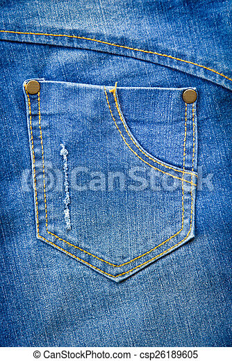 Blue jeans pocket. - csp26189605