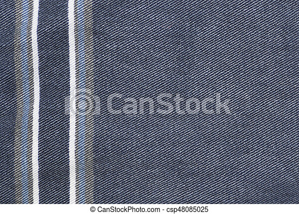 Vertical Line Art : Blue jeans texture with vertical lines fabric background stock