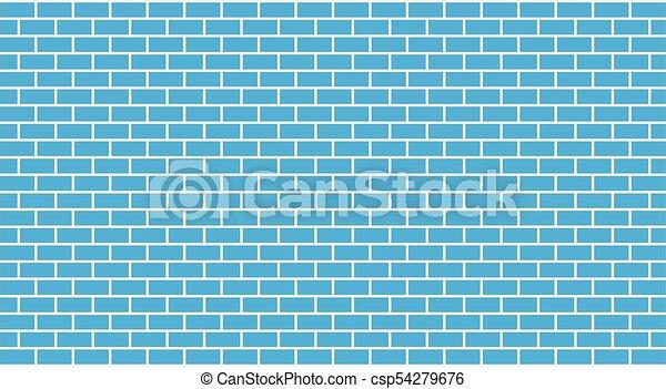 blue közfal, tégla, vektor - csp54279676
