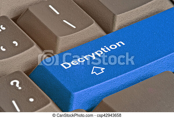 Blue key for decryption - csp42943658