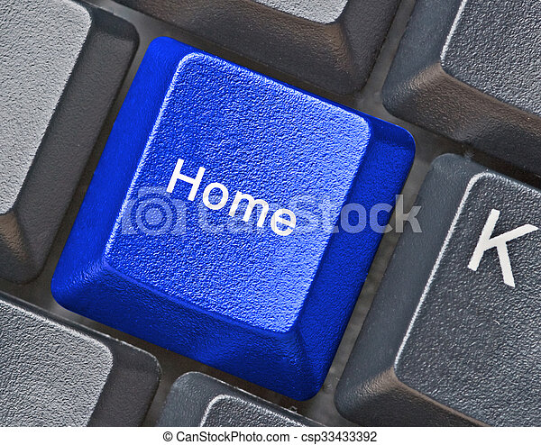 blue Key for homepage - csp33433392