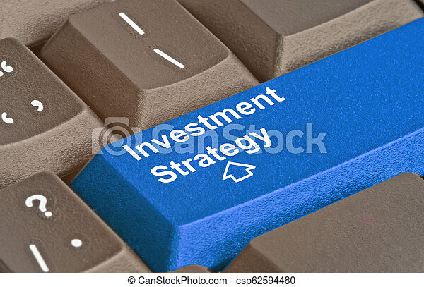 Blue key for investment strategy - csp62594480
