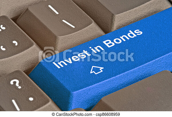 Blue key for investment strategy - csp86608959