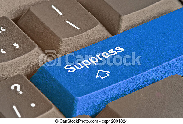 Blue key for supression - csp42001824