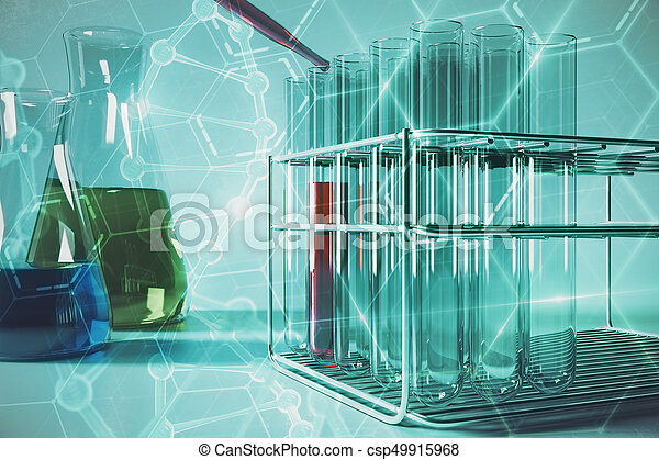 Blue lab research wallpaper - csp49915968