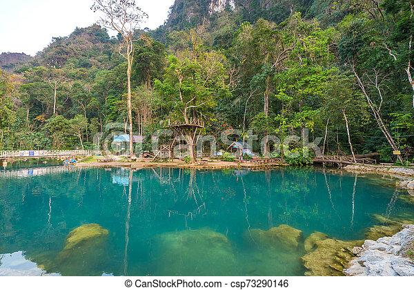 Blue Lagoon 2 Vang Vieng Water Activities At Laos Canstock
