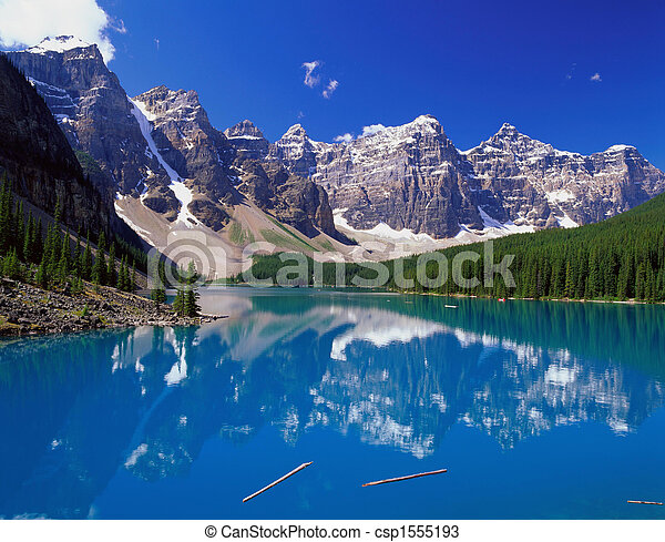 Blue Lake in the Mountains - csp1555193