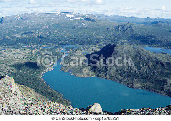 Blue lakes in Norway - csp15785251