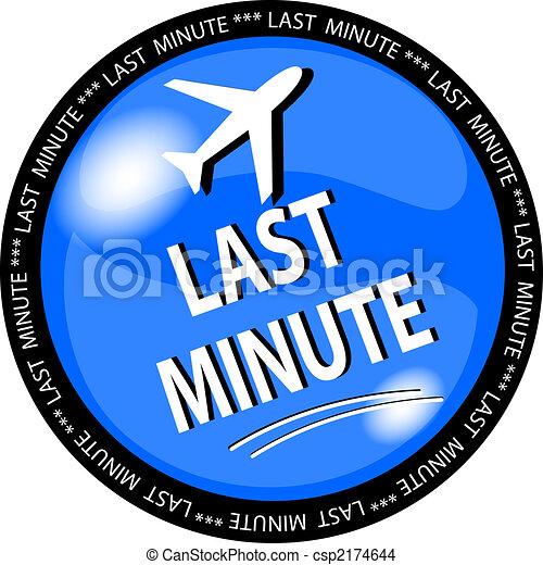 blue last minute button - csp2174644