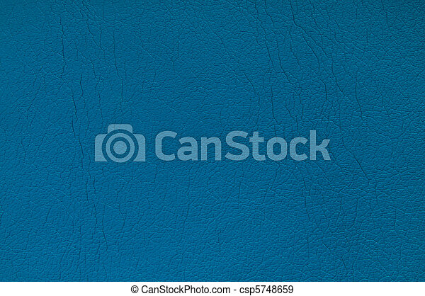 Blue leather background - csp5748659