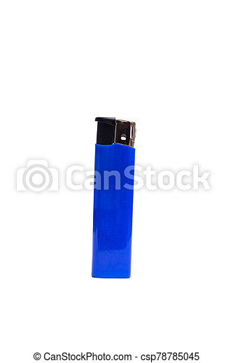 Blue lighter isolated on a white background - csp78785045
