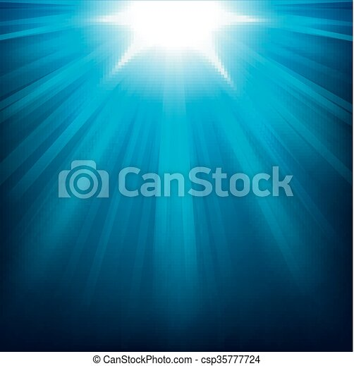 Blue lights shining - csp35777724