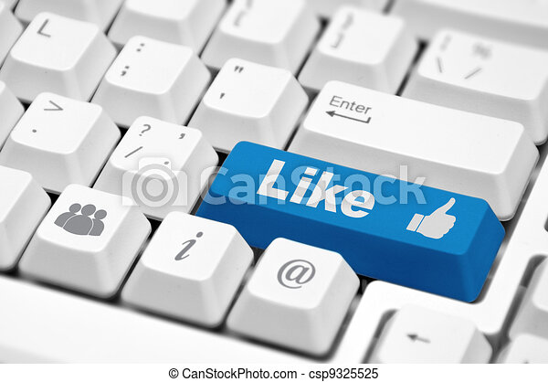 blue Like button - csp9325525