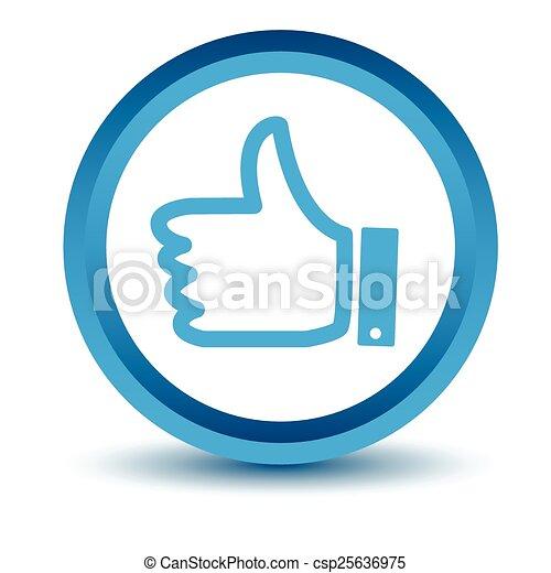 Blue like icon - csp25636975