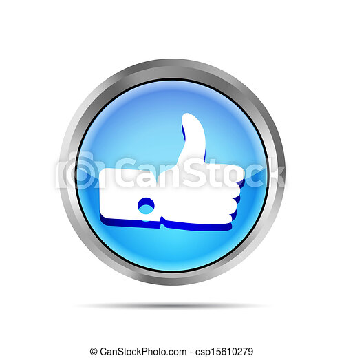 blue like icon on a white background - csp15610279