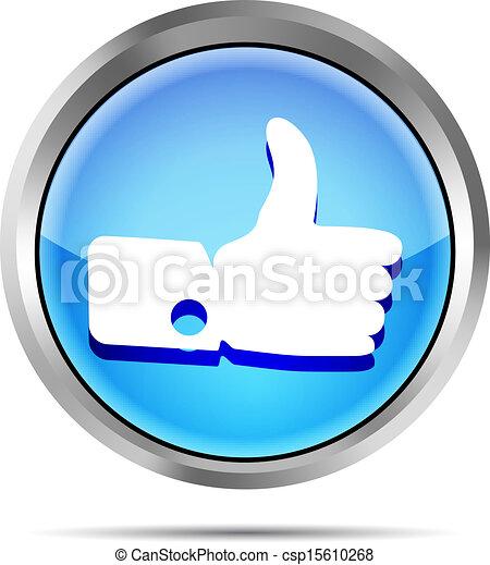 blue like icon on white background - csp15610268
