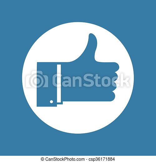 blue like sign - csp36171884