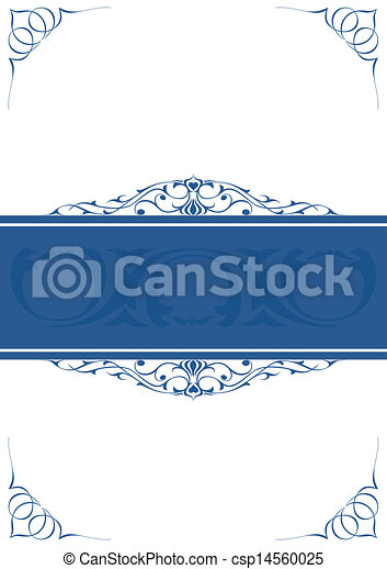 Blue little frames over white background - csp14560025