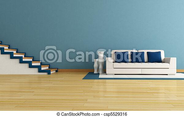 blue living room - csp5529316