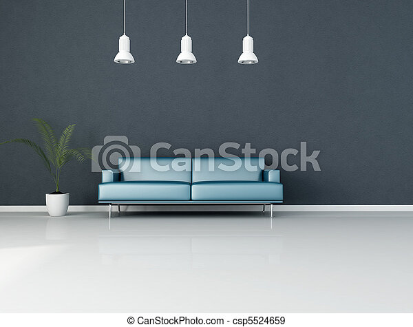 blue living room - csp5524659