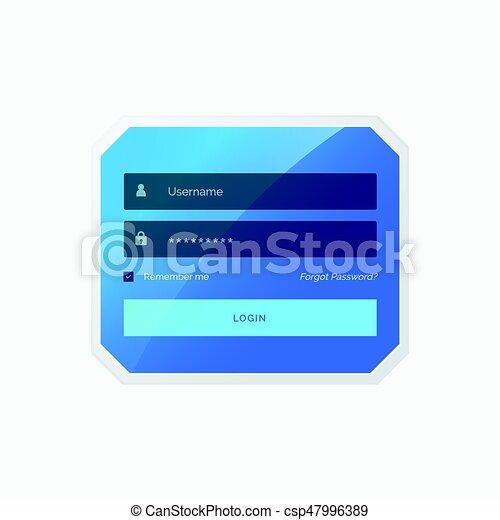 Blue login form template design in vector style blue login form template design in vector style maxwellsz