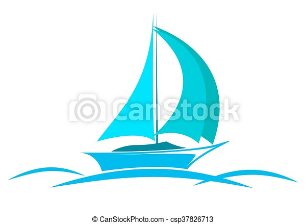 blue logo yacht on the sea with sails vector clip art search rh canstockphoto com sea victory minnie falgout llc sea victoria