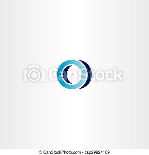 Blue Logotype Sign Letter O Logo Emblem