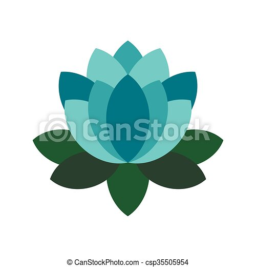 Blue lotus flower icon flat style blue lotus flower icon in flat blue lotus flower icon flat style csp35505954 mightylinksfo