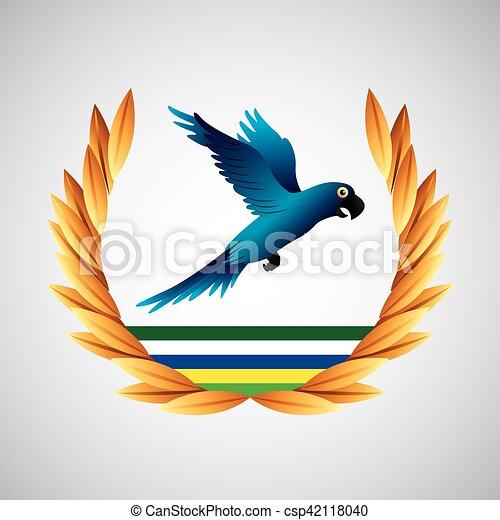 blue macaw brazil olympic games emblem - csp42118040