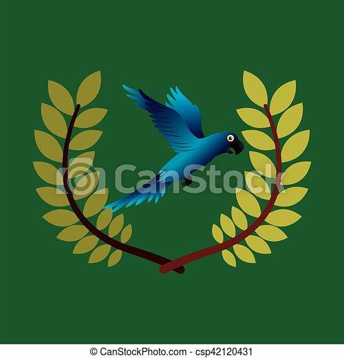 blue macaw  emblem - csp42120431