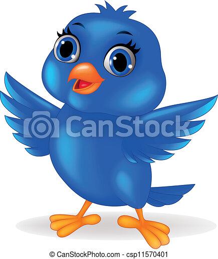 blue madár, karikatúra - csp11570401
