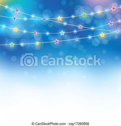 blue magic holiday background - csp17260856