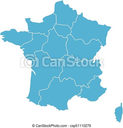 Blue map of France divided into 13 administrative metropolitan regions, Cs France Map on hl2 maps, digital paintball half-life maps, css maps, um maps, advanced warfare maps, mc maps,
