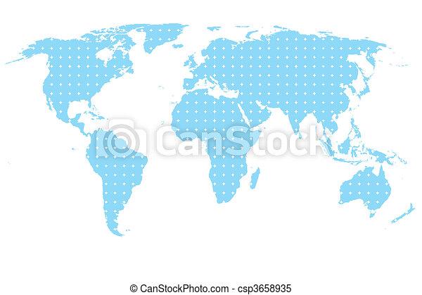 Blue map - csp3658935