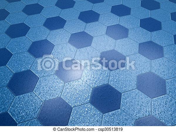 Blue Marble Floor Hexagonal Tiles Illustration Marble Floor Blue