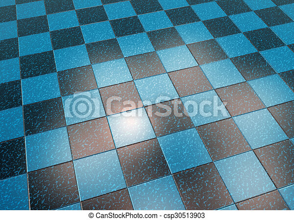 Blue Marble Floor Tiles Illustration Marble Floor Blue Black Tiles
