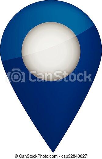 Blue mark on map - csp32840027