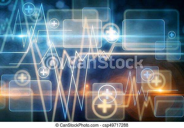 Blue medical background - csp49717288