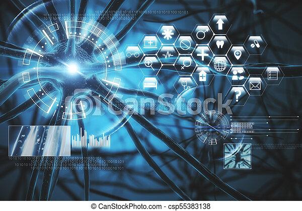 Blue medical interface - csp55383138