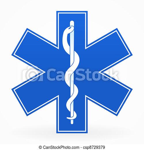 Blue Medical Sign - csp8729379